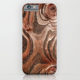 Red Mahogany Wood With Epic Eyes iPhone Case