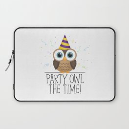 Party Owl The Time Laptop Sleeve