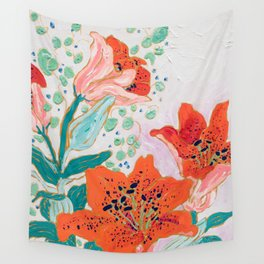 Orange Lily Wall Tapestry