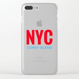 NYC Coney Island Clear iPhone Case