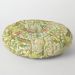 William Morris Golden Lily Vintage Pre-Raphaelite Floral Floor Pillow