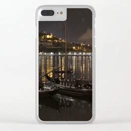 BOATS ON THE RIVER Clear iPhone Case