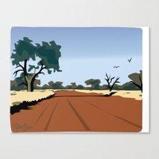 CA dirt road Canvas Print