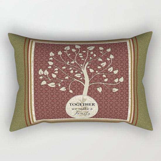 Together We Make A Family Rectangular Pillow