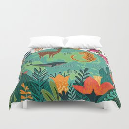 Once Destroyed Nature's Beauty Cannot Be Repurchased At Any Price Duvet Cover