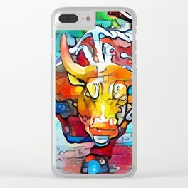 Wall Street Bull Clear iPhone Case