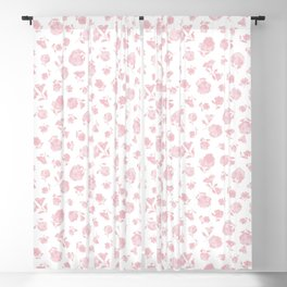 Pink Shadow Bloom Blackout Curtain