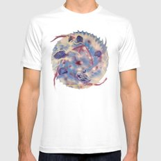 Spiral Stare Face White Mens Fitted Tee MEDIUM