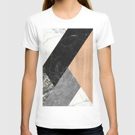 Marble and Wood Abstract T-shirt