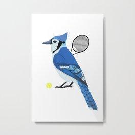 Tennis Blue Jay Metal Print