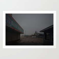 The Boardwalk, After Sandy Art Print