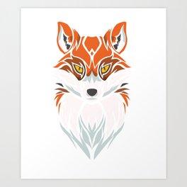 Tribal Fox - Wild Animal Art - Exotic Animals Art Print