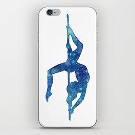 Pole dancer underwater iPhone Skin