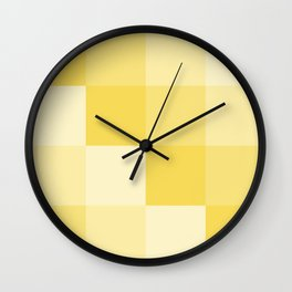 Four Shades of Yellow Square Wall Clock