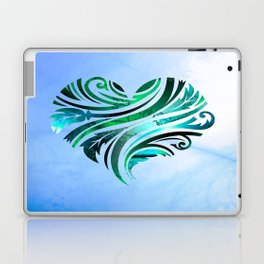 Cheerful Heart (blue-green) Laptop & iPad Skin
