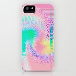 Distorted signal 03 iPhone Case