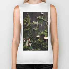 Bridie and the Robins in the Forest of Shamrocks Biker Tank