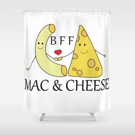 Mac & Cheese Best Friends Forever Shower Curtain