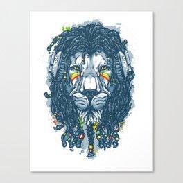 Lion with Dreadlocks Canvas Print