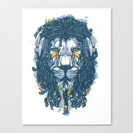 Lion with Dreadlocks Canvas Print