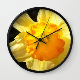 Fluid Nature - A Nod To Spring - Daffodil Wall Clock