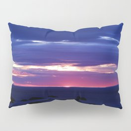 Purple Sunset over Sea Pillow Sham