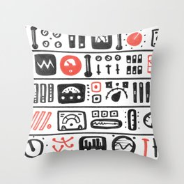 Mission Control Throw Pillow