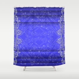 Abstract floral ornament background Shower Curtain