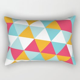 Tropical Triangles Rectangular Pillow