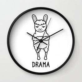 Drama Shirt Funny Llama Alpaca Pun Wordplays Gift Wall Clock