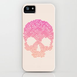 Labyrinthine Skull - Tropical iPhone Case