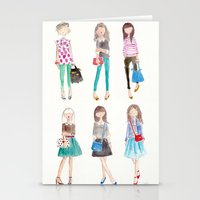 Stationery Cards featuring Collage by Sophie & Lili