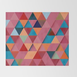 Colorfull abstract darker triangle pattern Throw Blanket