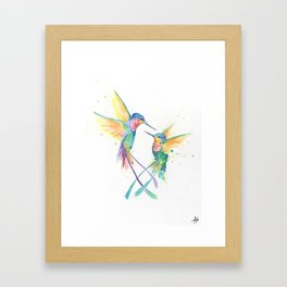 Hopeful Hummingbirds Framed Art Print