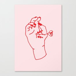 Hand to Hand Canvas Print
