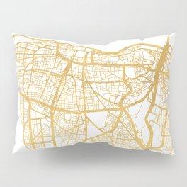 BEIRUT LEBANON CITY STREET MAP ART Pillow Sham