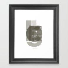 Die Neue Haas Grotesk (A-03) Framed Art Print