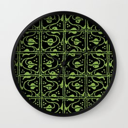 Vintage Leaf and Vines Greenery Wall Clock