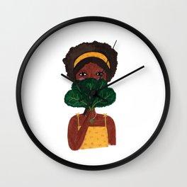 Kale Fan Wall Clock