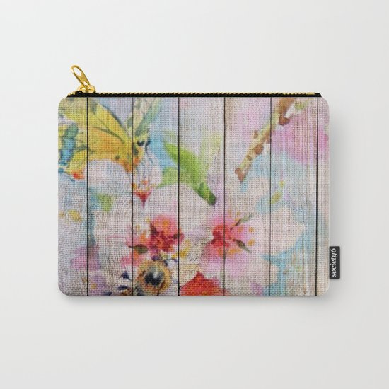 Spring on Wood 01 Carry-All Pouch