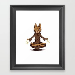 Jedi cat Framed Art Print