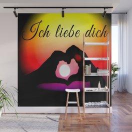 Ich liebe dich in pop-art Wall Mural