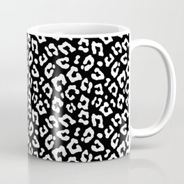 Large Black and White Leopard Spots Animal Print Coffee Mug