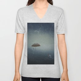 i'm here to protect you Unisex V-Neck