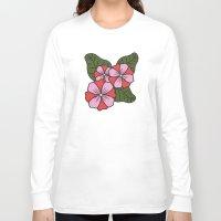 scandinavian Long Sleeve T-shirts featuring Scandinavian Garden by She's That Wallflower