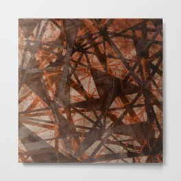 Fading Ley Lines (orange colourway) Metal Print