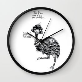 E is for Emu Wall Clock