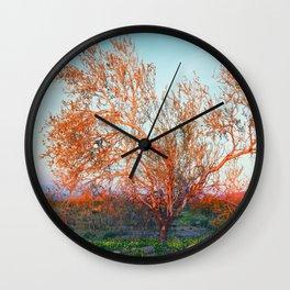 Dawn's First Light at Joshua Tree National Park Wall Clock