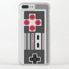 Retro Video Game Pattern Clear iPhone Case