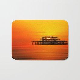 Brighton West Pier at Sunset Bath Mat